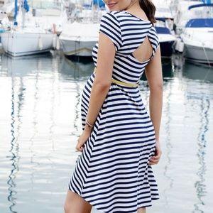 Seraphine Nautical Maternity Dress